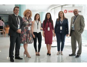 """Представители на Viki Services на """"Smart & Green Business Camp 2019"""" в компанията на Анна Дунева - член на УС на БГФМА, Горан Миланов - EURO FM и Левент Алатлъ - Председател на Турската ФМ асоциация."""