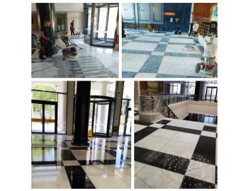Astor Garden Hotel - grinding and polishing